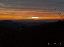 Coucher de soleil depuis les Vosges saônoises - janvier 2014.