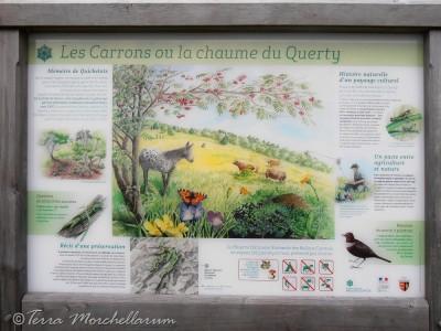 Panneau de la chaume du Querty.