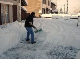50 cm de neige fraiche tombée dans la nuit du 4 au 5 mars 2006.